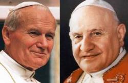 Jean-Paul II et Jean XXIII