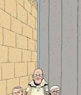 Une caricature du pape lors de sa visite en Israël