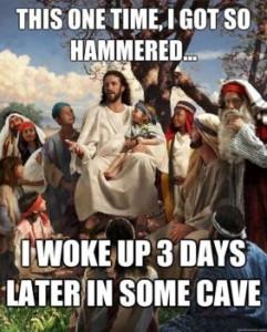 Jésus a eu mal aux cheveux...