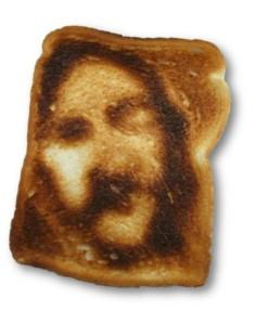 Jésus sur une toast.