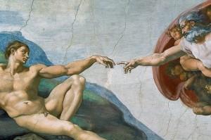 La Création d'Adam par Michel-Ange