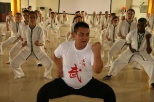 Les participants apprennent quelques chorégraphies de Kung Fu avec un expert de la méthode de Shaolin | Photo Karl-Stephan Bouthillette