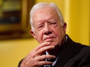 Jimmy Carter, trente-neuvième président des États-Unis, de 1977 à 1981.