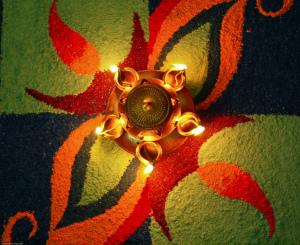 Un rangoli de Divali | Photo : Subharnab Majumdar