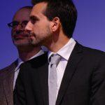 Le réalisateur du film François, apôtre de l'Amérique, François-Édouard de la Roche-Francoeur, lors de l'avant-première médiatique du 2 octobre 2014 | Photo : Steeve Bélanger (LMD)