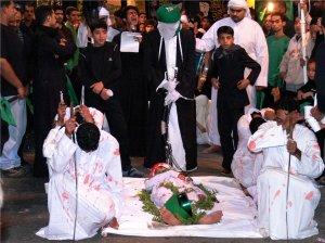 Une représentation de la mort de Hussein