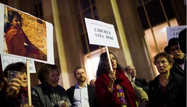 Une manifestation de soutien sur le Parvis des droits de l'homme, Paris le 29 octobre 2014 | Photo : M. Bureau (AFP)
