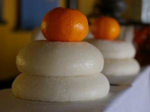 Des mochis et une orange pour le kami
