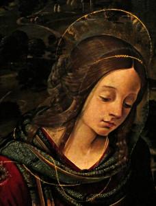 La Vierge à l'enfant entre saint Jean-Baptiste et sainte Madeleine (détail) | Piero di Cosimo