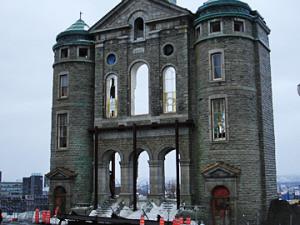 La façade de l'Église St-Vincent-de-Paul, à Québec | Photo : Martin Labbé