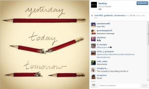 Bansky sur Instagram