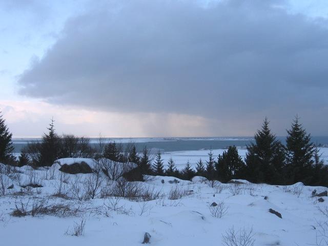 Vue de la colline Öskjuhlíð, où sera construit le temple ásatrú | Photo : Marie-Hélène Dubé