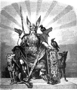 Óðínn, dieu principal du panthéon scandinave, patron de la magie, de la poésie, de la prophétie et de la guerre