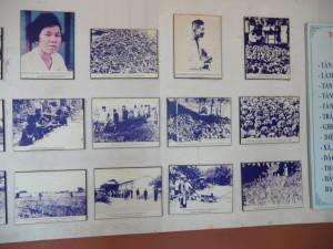 Des photos de victimes du régime de Pol Pot sont affichées aux murs du musée de Ba Truc | Photo : Phuoc Thien Tran