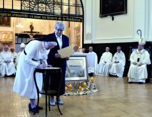 Les Augustines et les Ursulines du Québec ont renouvellé leur Pacte d'amitié lors de la messe célébrée par Mgr Gérald Cyprien Lacroix | Photo : Daniel Abel