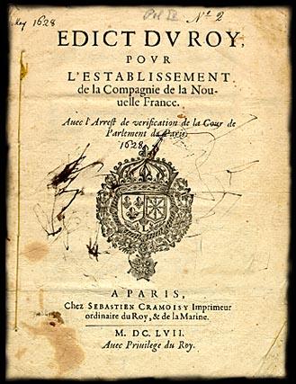Edict du Roy Cent-Associés