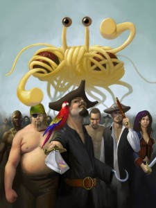 Le MSV aurait créé les pirates, puis les hommes | Source : Church of FSM