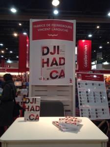 Kiosque de dédicace pour le livre Djihad.ca lors du SILQ 2016 | Photo : Steeve Bélanger (LMD)