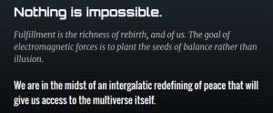 Un extrait d'une réflexion générée automatiquement par le New Age Bullshit Generator | Source : sebpearce.com
